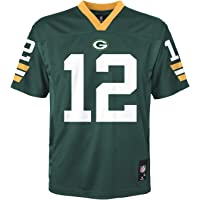 Outerstuff - Jersey juvenil NFL, diseño de Aaron Rodgers Green Bay Packers Green Home, nivel medio