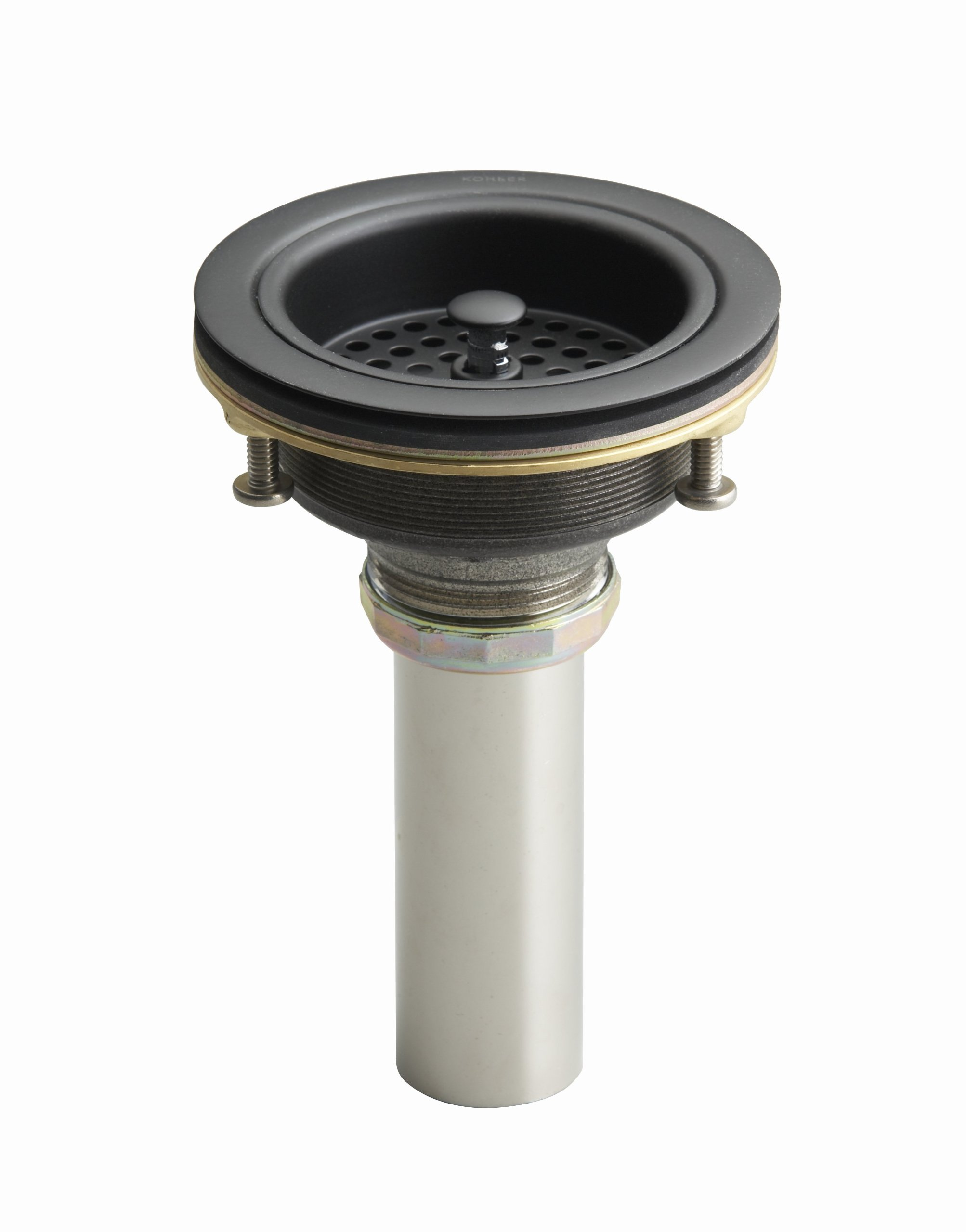 KOHLER K-8801-BRZ Duostrainer Sink Strainer, Oil-Rubbed Bronze