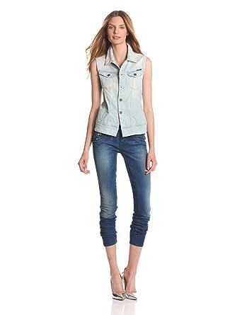 Amazon.com: G-Star Raw Women\u0027s Arc Sleeveless Jacket Comfort Calc Denim,  Light Aged, X-Small: Clothing