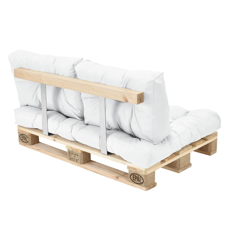 Divano paletta euro-sof/á In//Outdoor cuscino schienale set di 3 crema cuscino seduta en.casa Cuscini per paletta euro-sof/á tavolozze