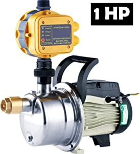 TDRFORCE 1 HP Pressure Booster Pump Automatic Water Pump Tankless Shallow Well Self-priming Jet Pump System