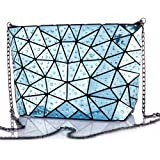 HotOne Geometric purse PU leather chain crossbody purse clutch purses for women