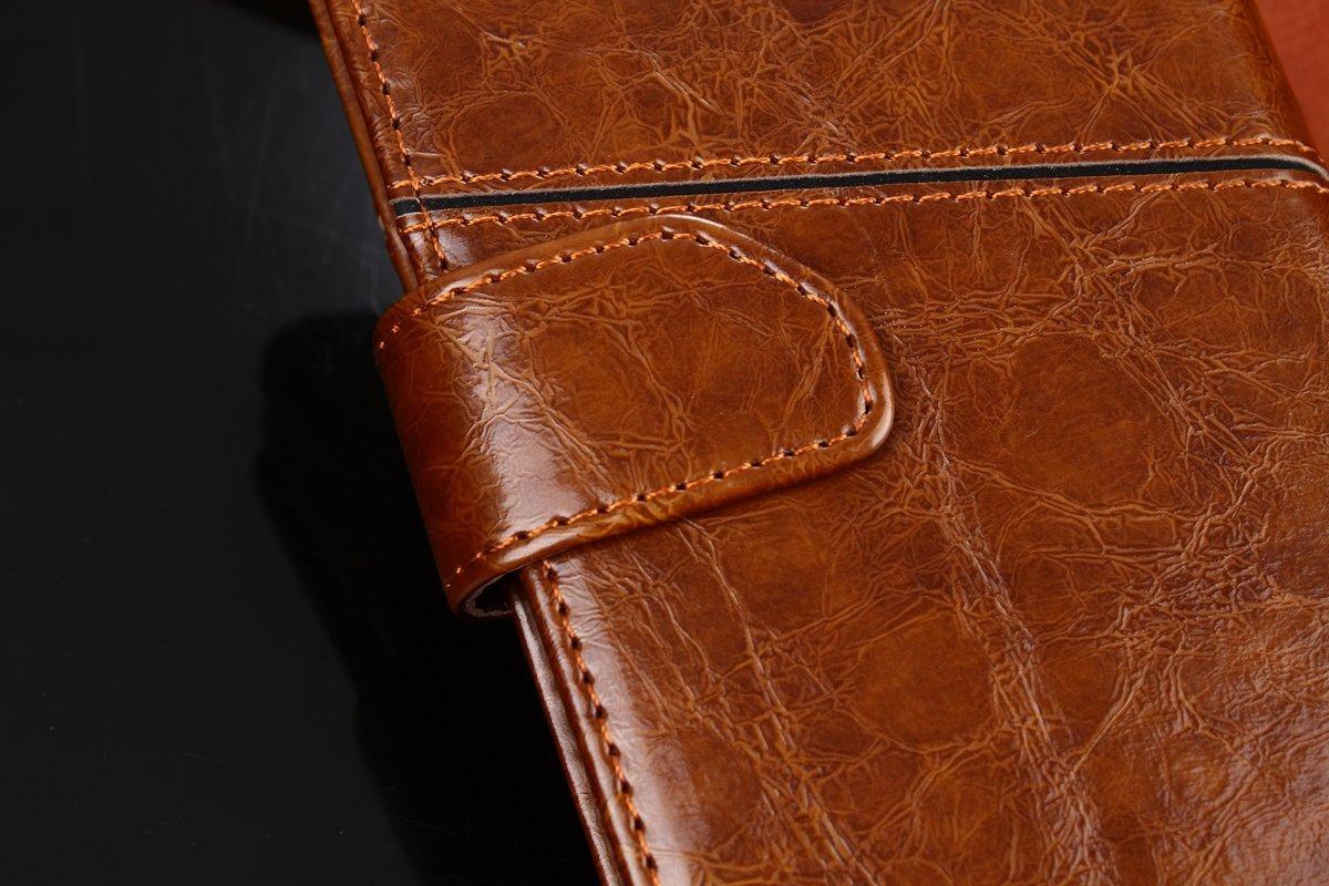 Folio Corregido Cubierta de Cuero de Grano Corregido G-Hawk Estuche Vintage Estilo Libro para BQ Aquaris X//X Pro