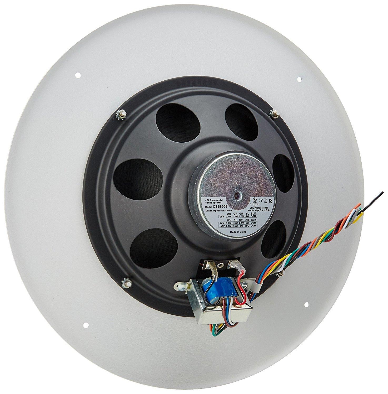 Jbl Css8008 Commercial Series 15 Watt 8 Ceiling Speaker Ohm Wiring White Musical Instruments