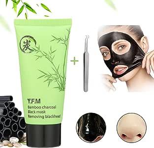 Blackhead Mask Luckyfine Blackhead Remover Peel Off Mask, Bamboo Charcoal Black Mask