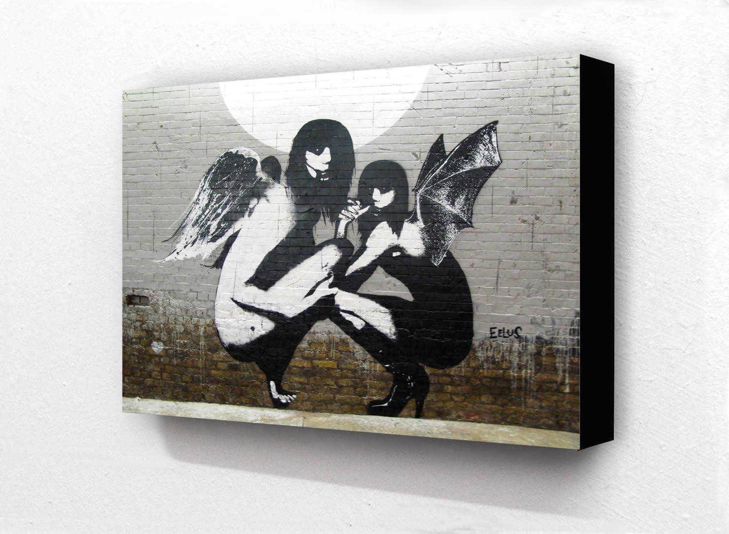 postcard size Banksy Single Flower 6 x 4 Block Mounted Picture