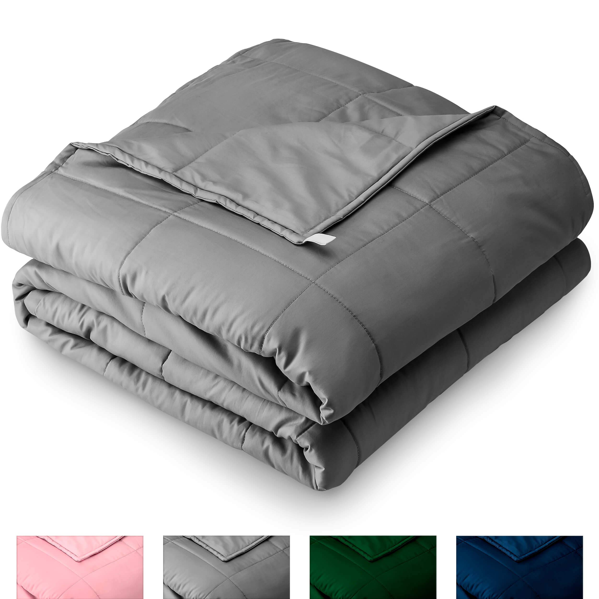 Bare Home Weighted Blanket for Adults 25lb (80'' x 87'') - Oversize - All-Natural 100% Cotton - Premium Heavy Blanket Nontoxic Glass Beads (Grey, 80''x87'') by Bare Home