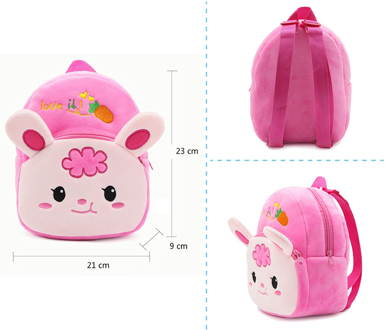 16c2e1934497 Elonglin Cute Small Toddler Kids Backpack Plush Animal Cartoon Mini Children  Bag for Baby Girl Boy