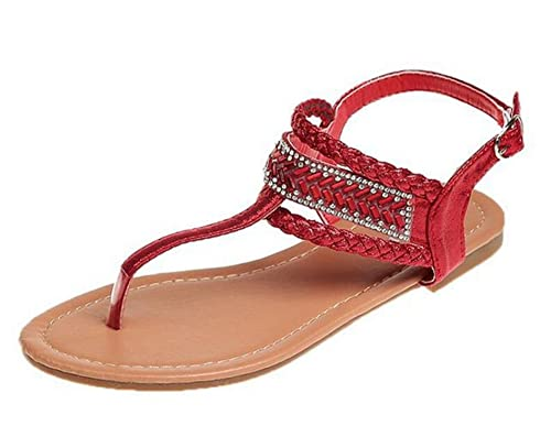 80b871beb39 Image Unavailable. Image not available for. Color  Woman Summer Flat Sandals  Ladies Shiny Footwear ...