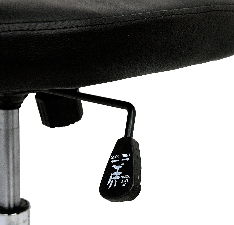 La Silla Española Oviedo Silla de Oficina y Despacho, Piel Sintética, Negro, 54x47x94 cm