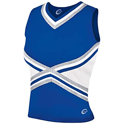 3-Color Kick Cheerleading Uniform Top - Youth Girls Sizes
