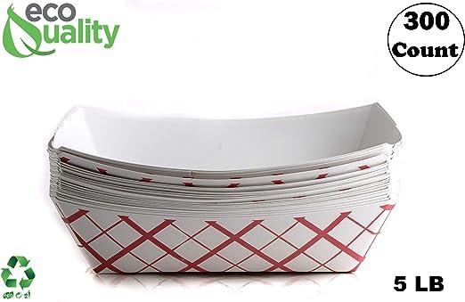 Bandeja de papel desechable de 300 ct (5 libras) – Bandeja de ...