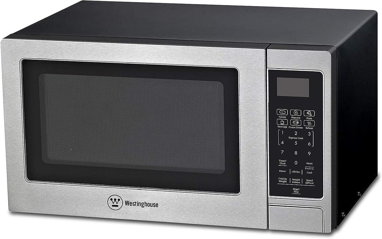 Westinghouse Stainless Steel Countertop Microwave Oven, 900-Watt, 0.9-Cubic Feet