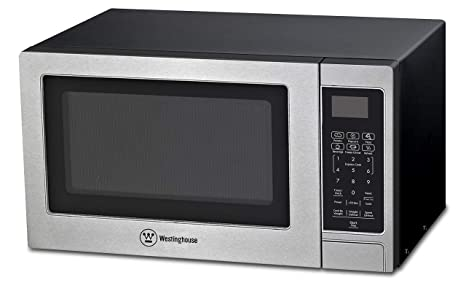 Westinghouse Stainless Steel Countertop Microwave Oven, 900-Watt, 0.9-Cubic Feet