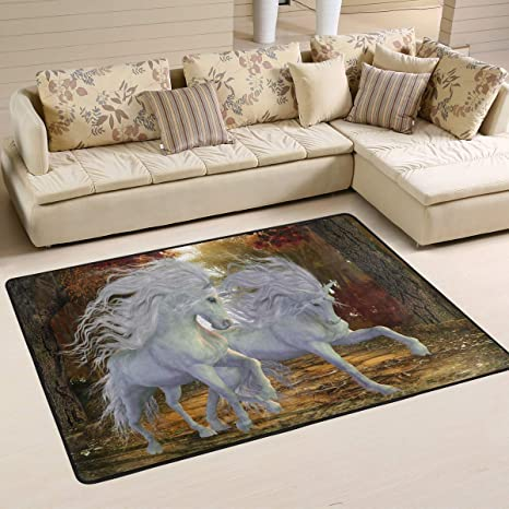 Amazon.com: Naanle Magical Unicorn Alfombra de área ...
