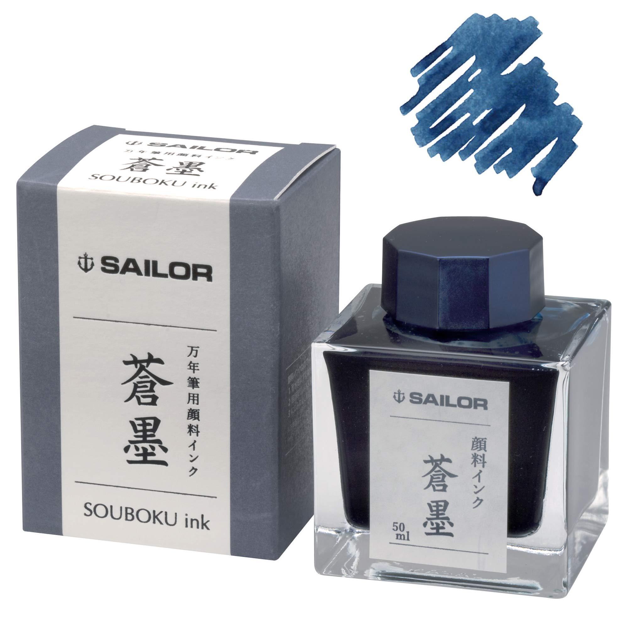 Sailor 50ml Bottled Ink in Souboku Ultra Blue Pigmented