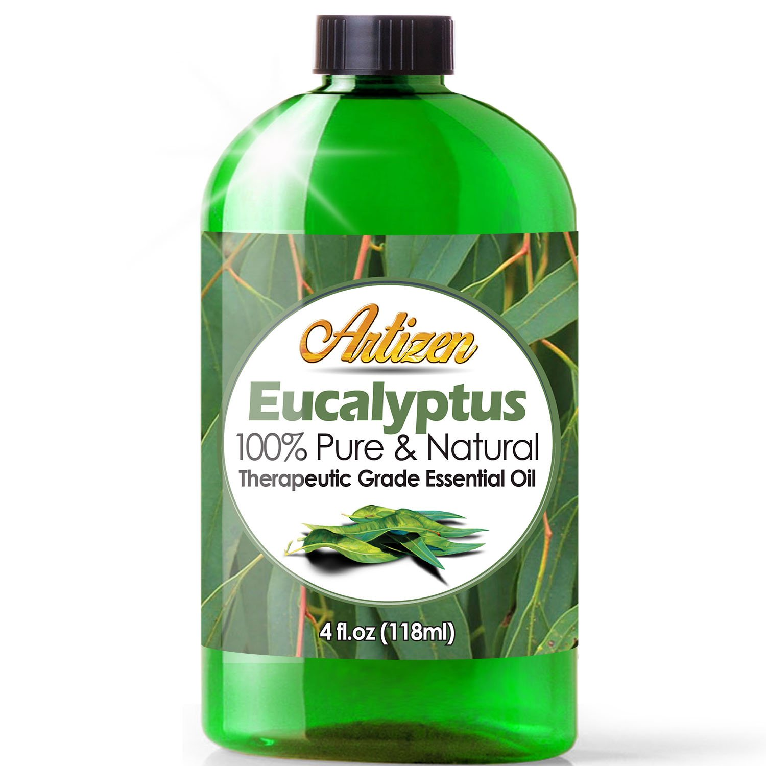 Artizen Eucalyptus Essential Oil (100% Pure & Natural - Undiluted) Therapeutic Grade - Huge 4oz Bottle - Perfect for Aromatherapy, Relaxation, Skin Therapy & More!