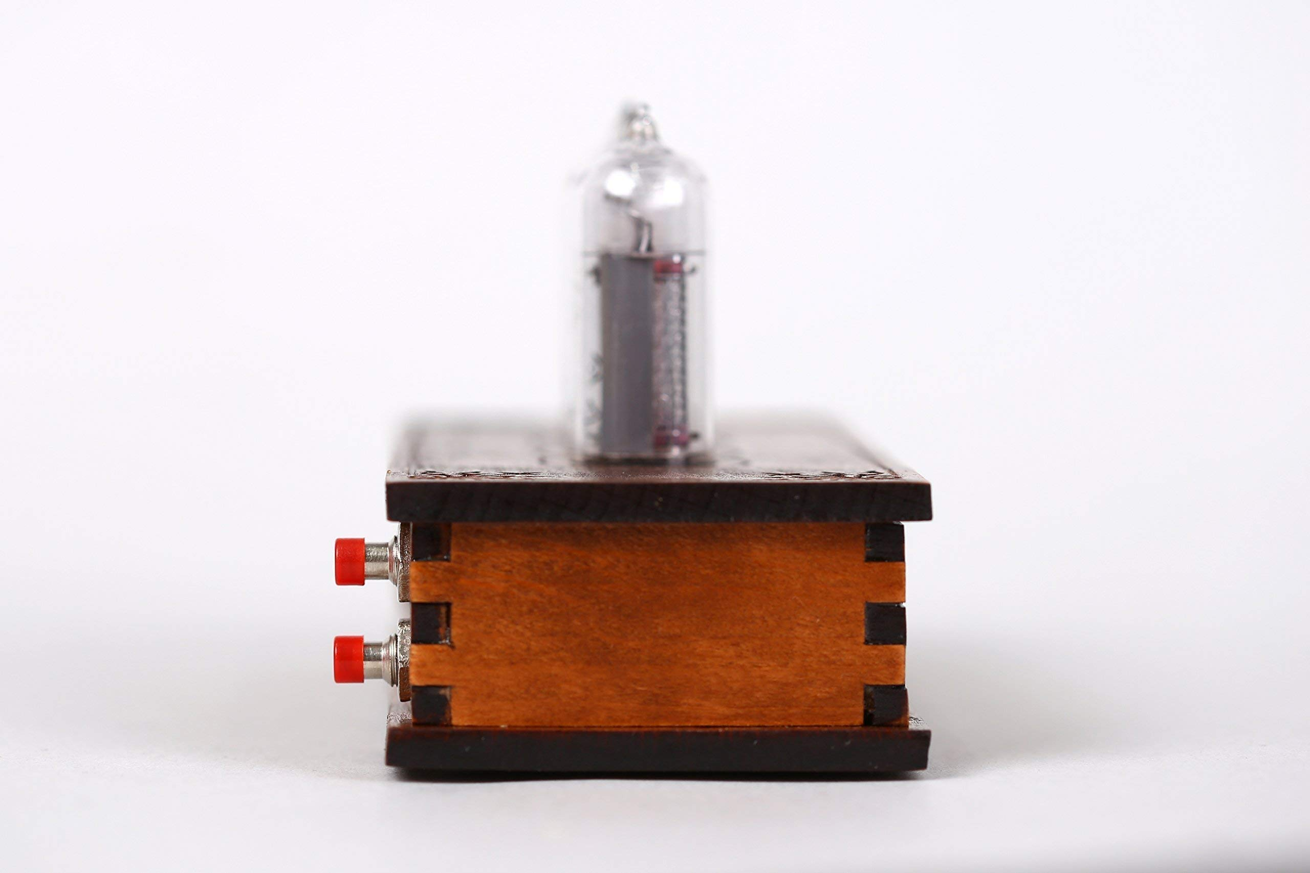 Nixie Tube Clock 4x IN-14 Vintage Retro Table Wooden Clock Glowing Home Decor
