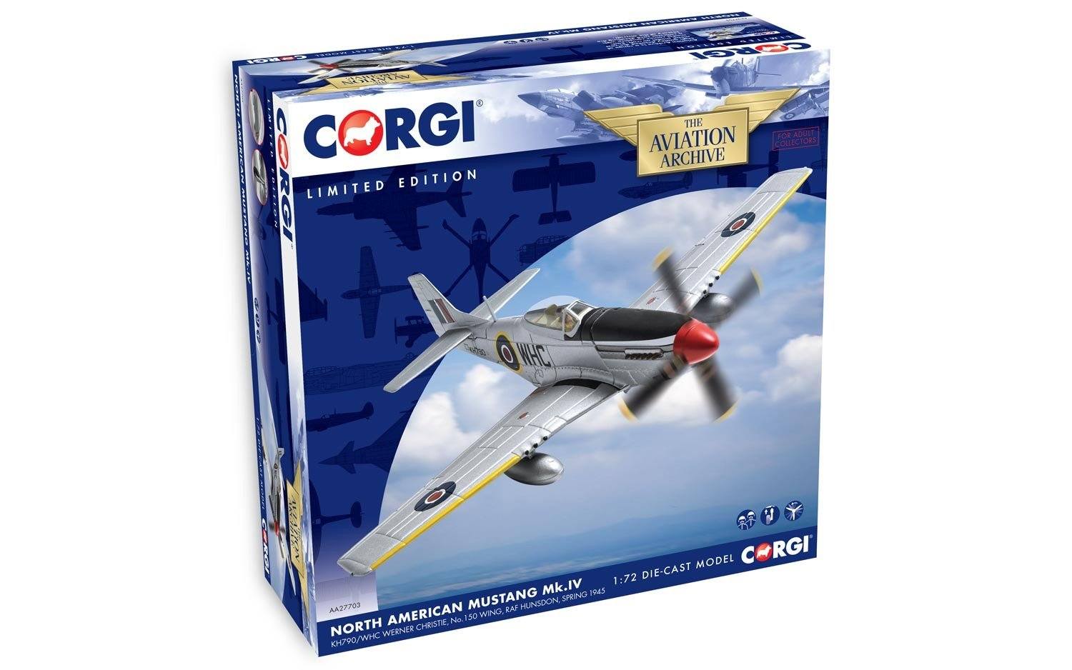 Corgi AA27703 Boeing North American Mustang MK.IV KH790 - Cristiano Werner Modelo 150