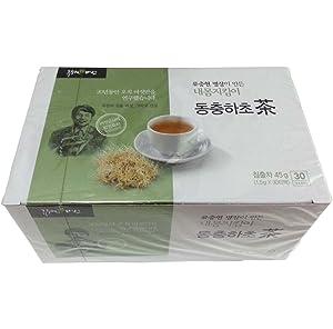 RYUCHUNGHYUN Medicinal mushrooms Dongchung Hacho Mushroom tea Korean Food 30 Count (Pack of 1) 내몸지킴이 동충하초티백차