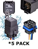 5 PACK 40/30 AMP WATERPROOF Relay and Harness