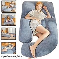 Pregnancy Pillow | G-shape Ultra Soft Sleeping Pillow| Full Body Pillow | Large Body Pillow | Maternity Sleeping Pillow | Velvet Fabric | (Grey)