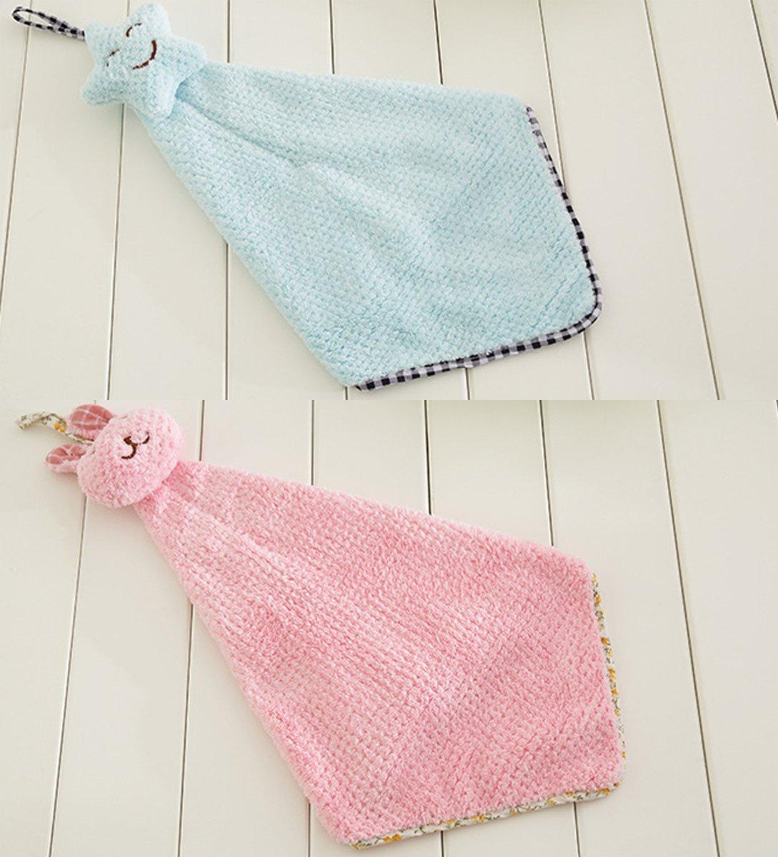ukey toallas de mano, toalla de microfibra Super absorbente/Toalla de secado rápido para colgar (toallitas, de algodón, trapos para cocina y baño, ...