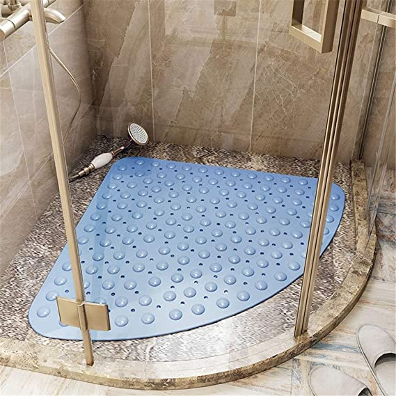 rutschfest Quadrant Gummi 54 x 54 cm Badematte Badewannenmatte f/ür Dusche oder Wanne transparent Anti-Schimmel Sicherheitsmatten mit Ablaufloch Hemoton Duschmatte Ecke