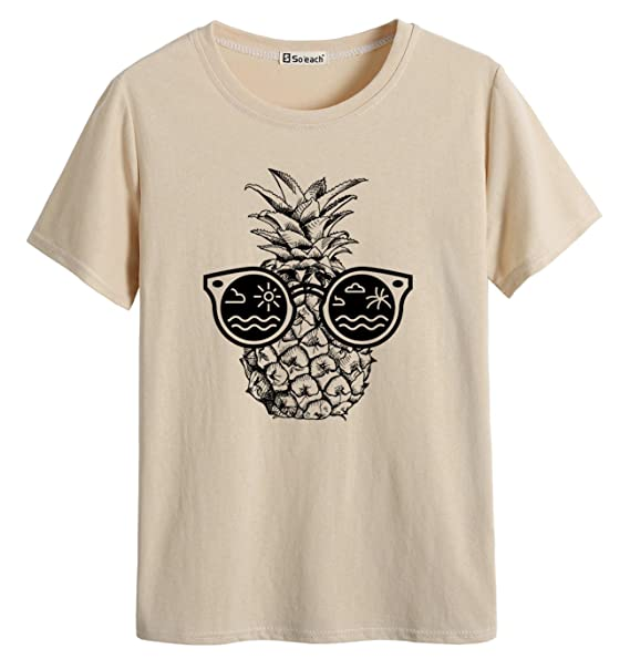 e4c4e6760edef Image Unavailable. Image not available for. Color  So each Women s  Sunglasses Pineapple Tee T-Shirt Ladies Casual Top
