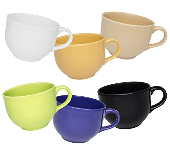 Oxford Biona Jumbo Mugs (Set of 6)- Assorted Colors by Oxford: Amazon.es: Hogar