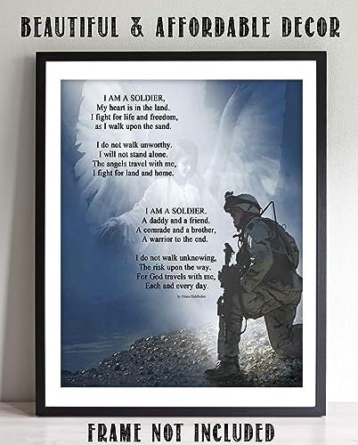 com i am a ier prayer wall art print x ready