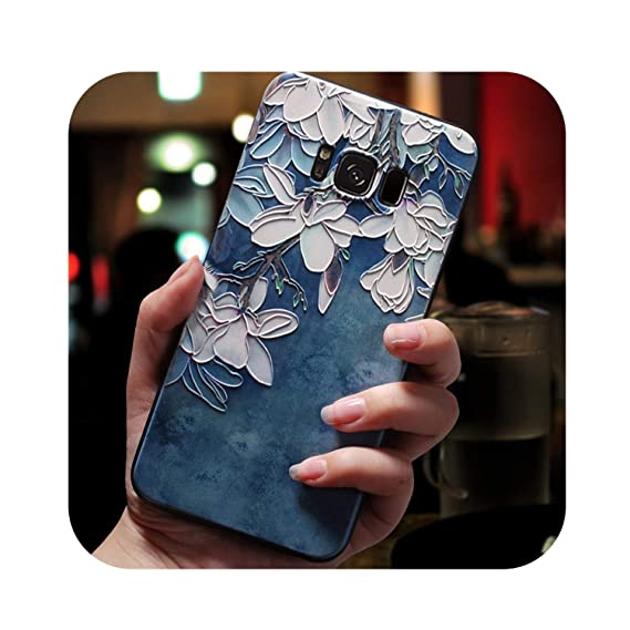 Amazon.com: 3D Flower Emboss Case for Samsung Galaxy J7 J3 ...