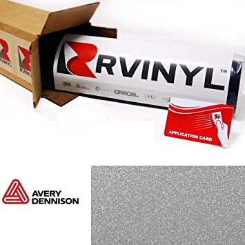 12 x 60 w//Application Card Avery SW900 878-D Diamond Silver Supreme Wrapping Film Vinyl Vehicle Car Wrap Sheet Roll