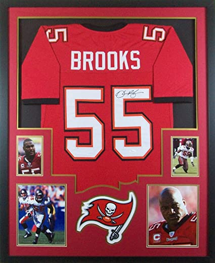 Derrick Brooks Tampa Bay Buccaneers Autograph Signed Custom Framed Jersey  JSA Witnessed Certified 8a53742c8