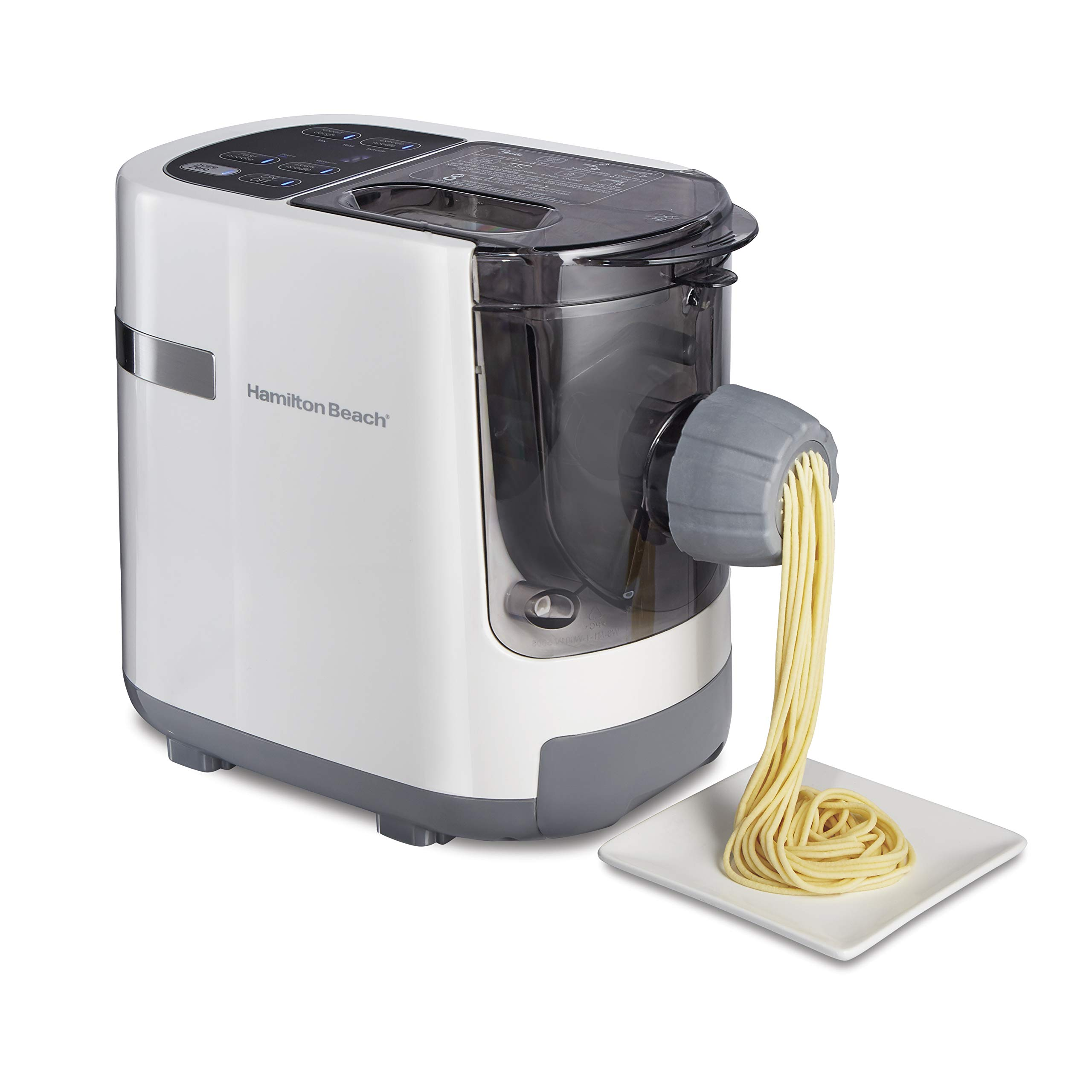 Hamilton Beach Electric Pasta and Noodle Maker, Automatic, 7 Different Shapes, White (86650), by Hamilton Beach