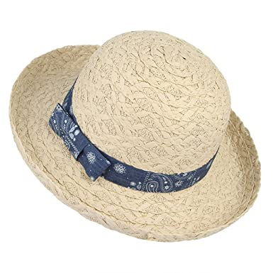 Amazon.com  Kids Summer Straw Hats Outdoor Travel Beach Sun Hats Curling  Caps Unisex  Clothing ccec7832d5b