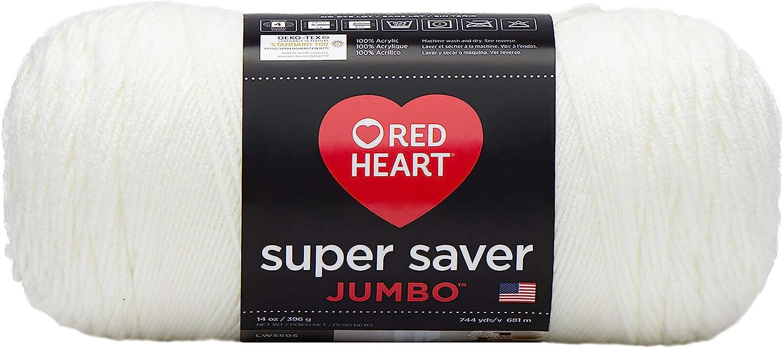 RED HEART Super Saver Jumbo Yarn, Soft White