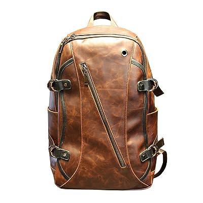 Tidog Crazy Horse Leather Shoulder Bag retro old laptop leather backpack free shipping