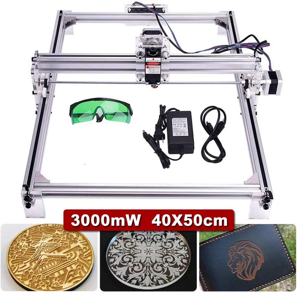 3000mw Engraving Machine, 50x40cm CNC Router Machine 12V USB Engraver Desktop CNC DIY Picture Making Printer (3000mw) cenoz