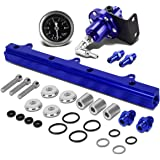 For Honda B-Series Top Feed Fuel Injector Rail Kit+Fuel Pressure Regulator (
