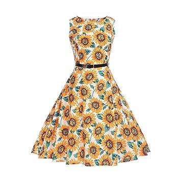 LILICAT® Vestidos de fiesta de tallas extra, 2018 Vestido de verano estampado de mujer