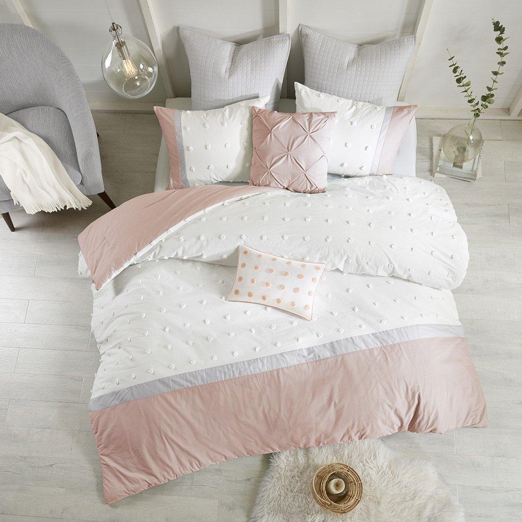 Urban Habitat Myla 7 Piece Cotton Jacquard Comforter Set Ivory Full//Queen UH10-0223