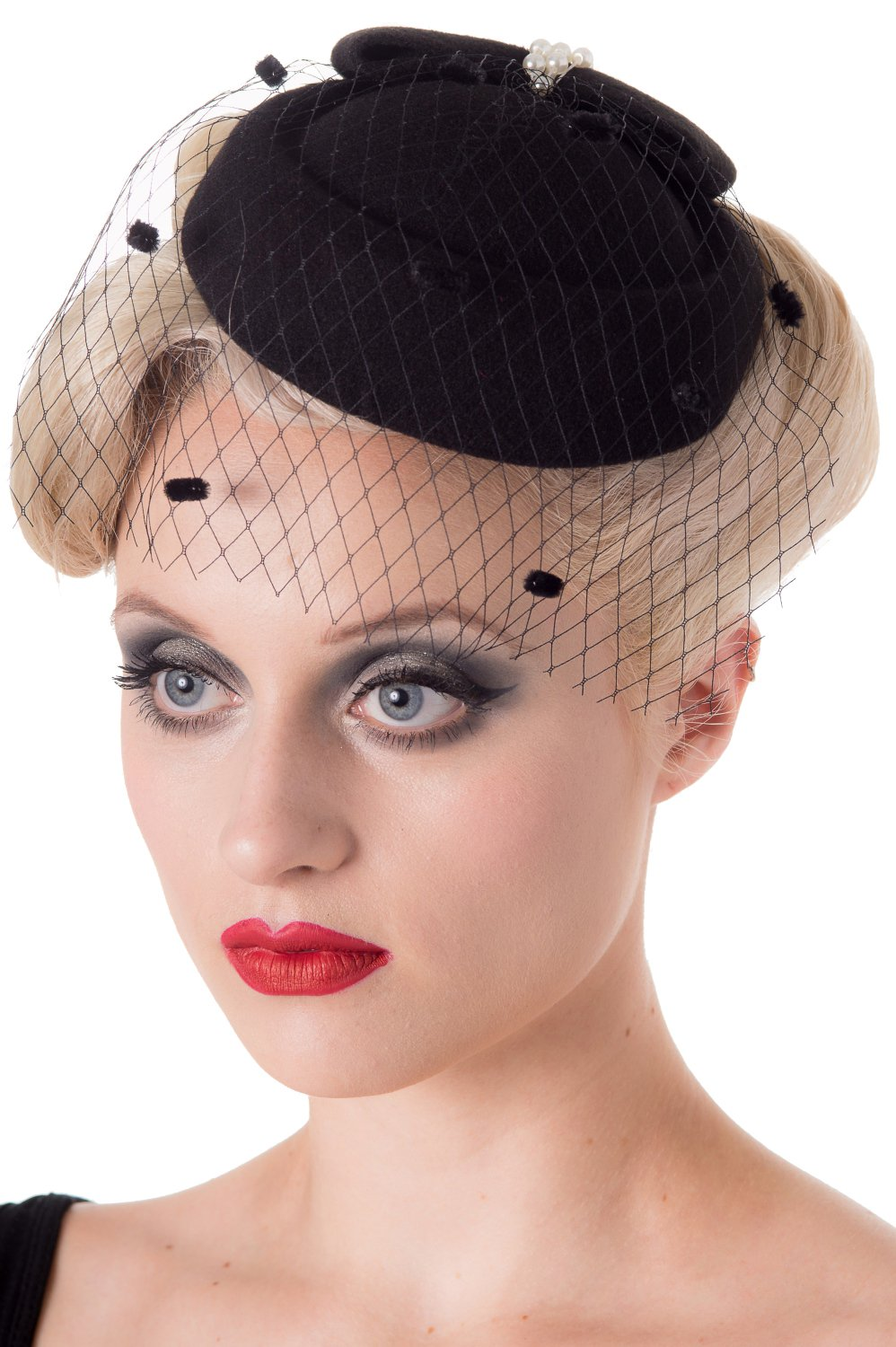 Banned Judy Vintage Retro Pillbox Hat - 7 Colours Available - Black / One Size