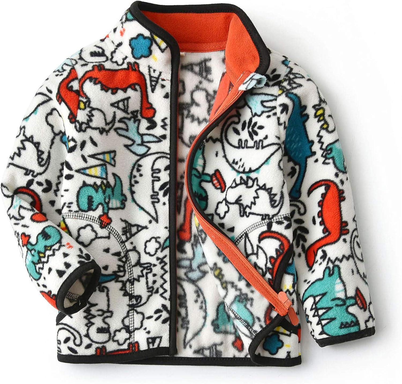 Feidoog Toddler Kids Polar Fleece Warm Jacket Baby Boys Girls Autumn Winter Zip-up Lightweight Long Sleeve Jacket
