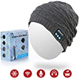 Sunnywoo Bluetooth Beanie Hat, Wireless Smart Headphone Premium Knit Cap with Speaker & Mic, Unisex Headset Musical Cap…