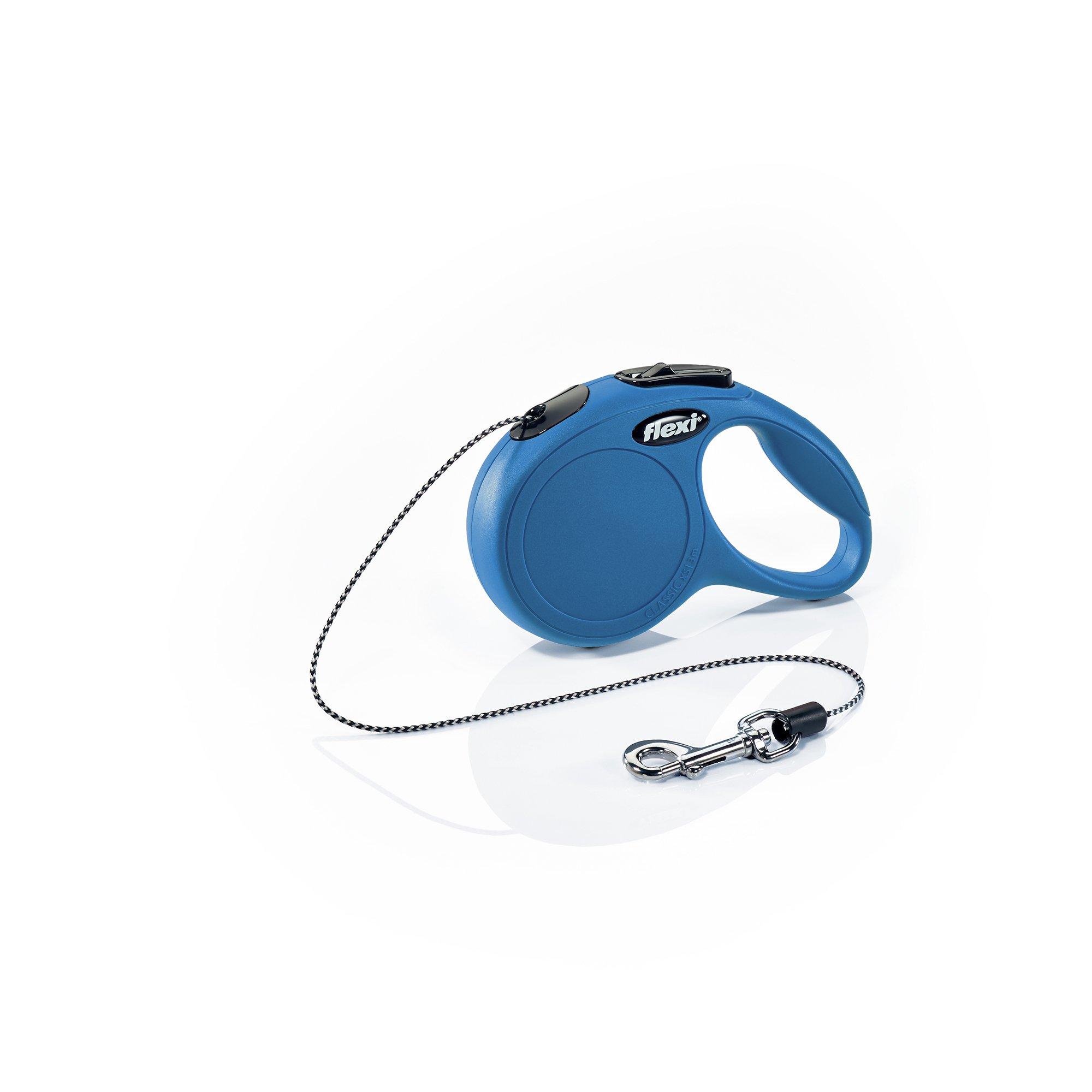 Flexi Classic Cord Leash, X-Small Cord, 10-Feet - Blue