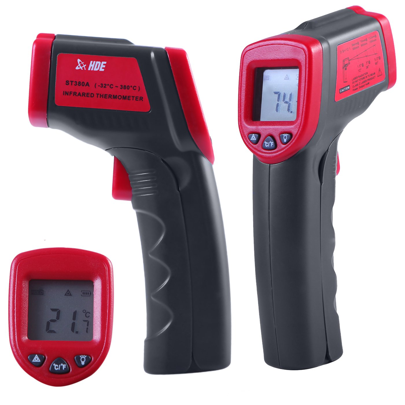 HDE Non-Contact Infrared Thermometer Digital Temperature Gun with Laser Functional Range -26 to 716 Degree Fahrenheit (-32 to 380 Degrees Celsius)