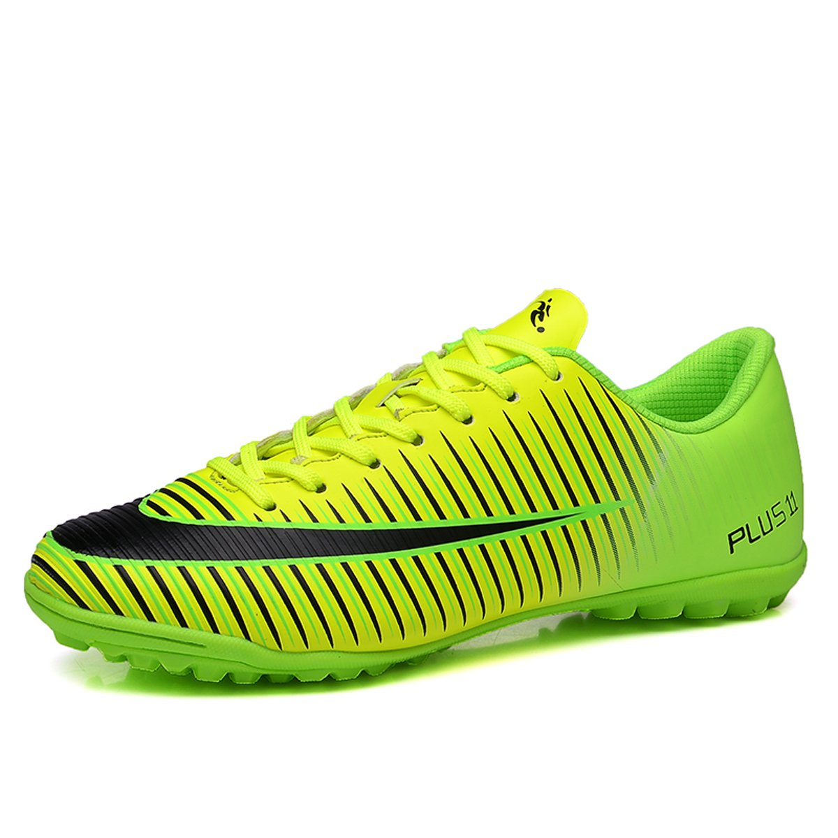 SKYMAIP Kids Soccer Shoes Men Indoor Outdoor Football Boots Athletic Turf Mundial Team Cleat Running Sport Shoes B07DMP9VPZ EU33/2 US|Green