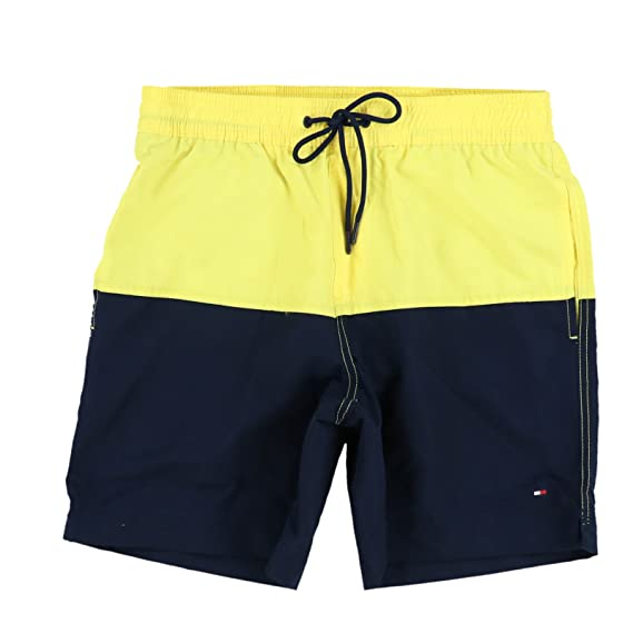 c5c2d1378866f Tommy Hilfiger Mens Colorblock Swim Trunks (Large, Yellow): Amazon ...