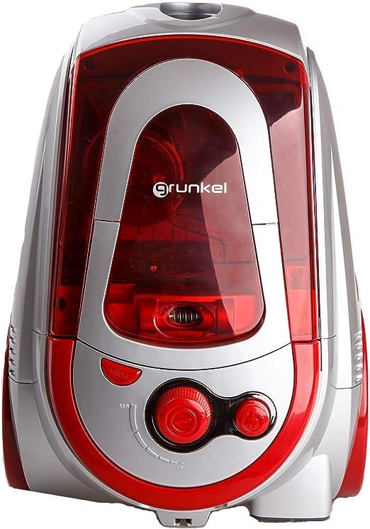 Grunkel - ASP-90A - Aspiradora Clase A con tecnología ciclónica. Control de fuerza de absorción - 900W - Rojo: Amazon.es: Hogar